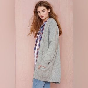 Oversized Wool Pocket Cardigan